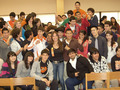Milka motivating students at Union High School in Laredo,Texas